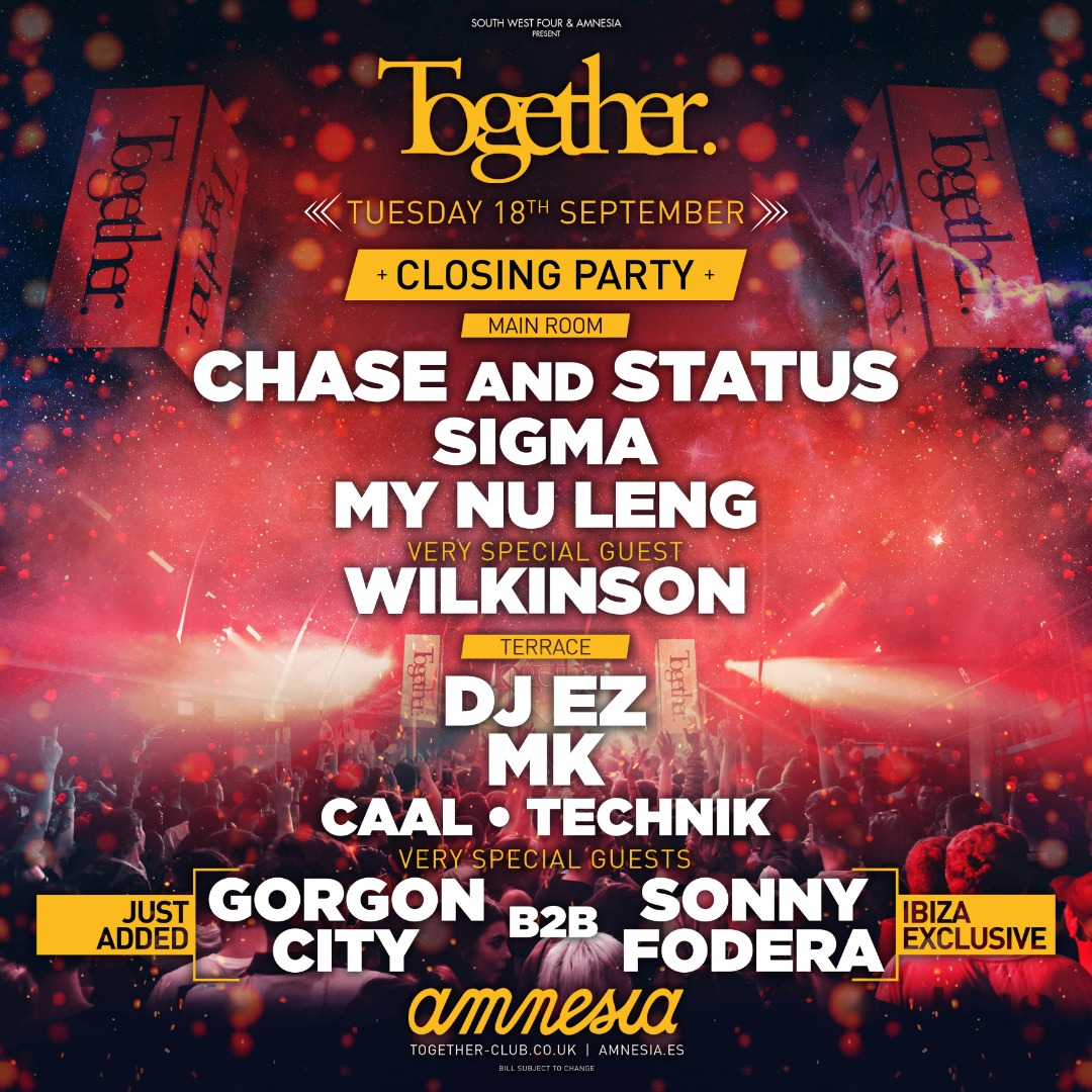 Together closing line up