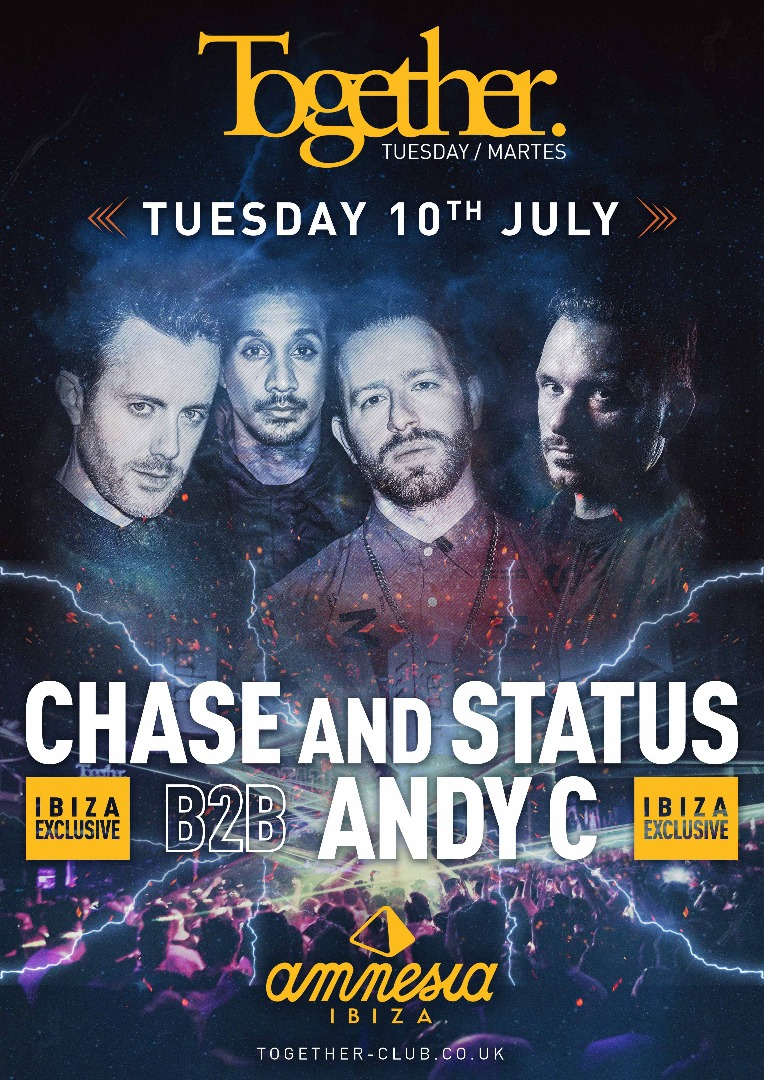 Together poster Chase&Status b2b Andy C