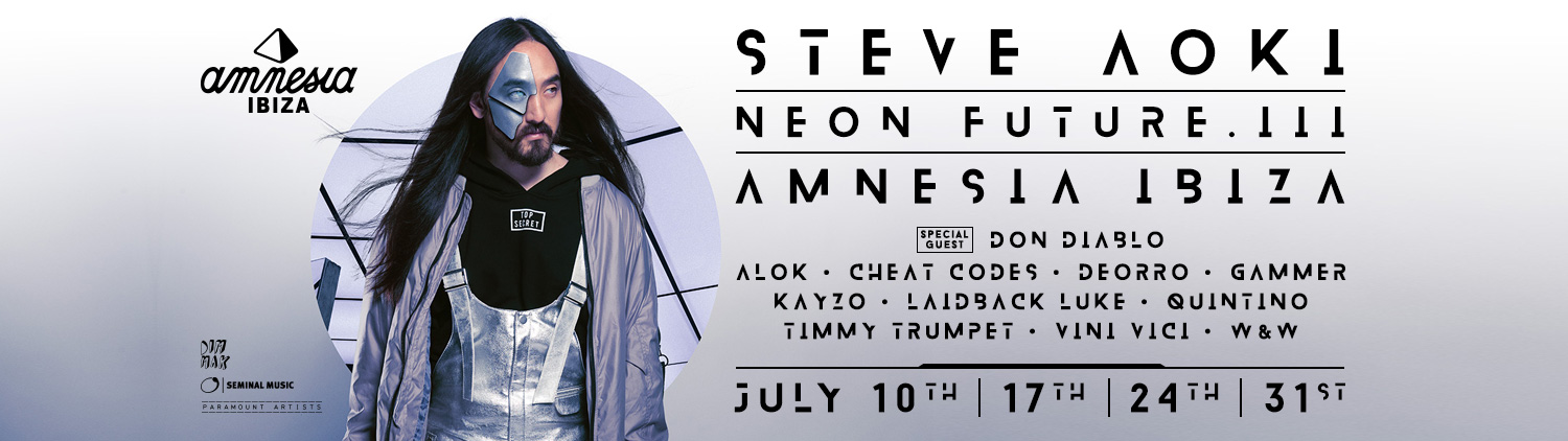 Amnesia New - Steve Aoki confirms line-ups for his 4 nights in Amnesia