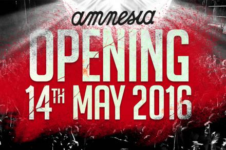 Amnesia open it doors on the 14th of May