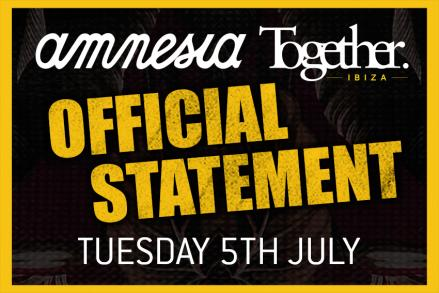 Official Statement Amnesia Ibiza