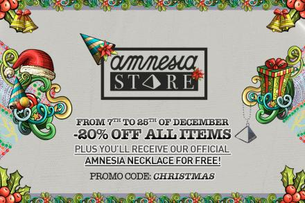 -20% off all items this Christmas at Amnesia Store