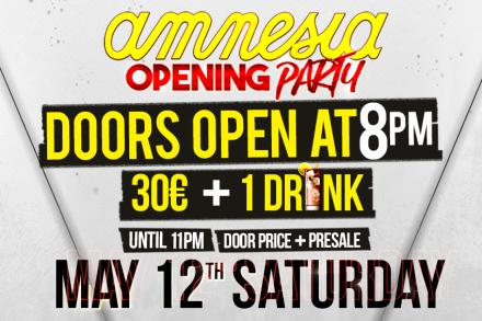 Amnesia Opening times changed
