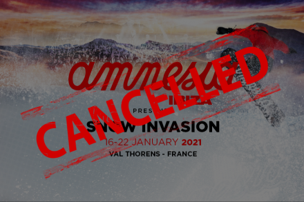 Snow Invasion event cancelled