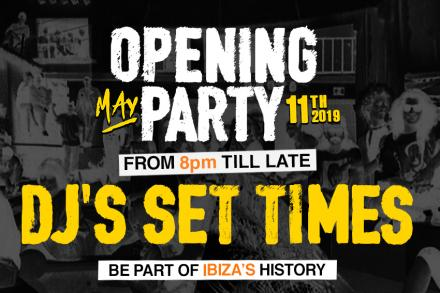 Set times for Amnesia Opening Party announced!