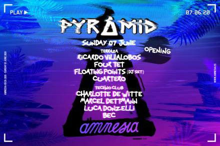 Pyramid announces line-up for opening party