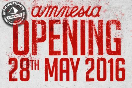 Amnesia confirms opening date on the 28th of May