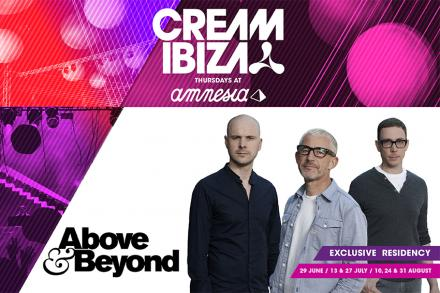 Above and Beyond returns to Cream Ibiza at Amnesia!