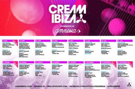 Cream Ibiza announces the full line up for this season at Amnesia
