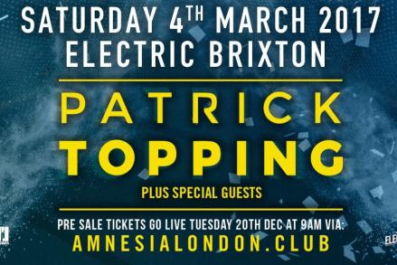 Amnesia returns to London on the 4th March