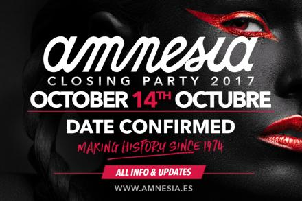 Amnesia Ibiza announces date of this year's closing party!