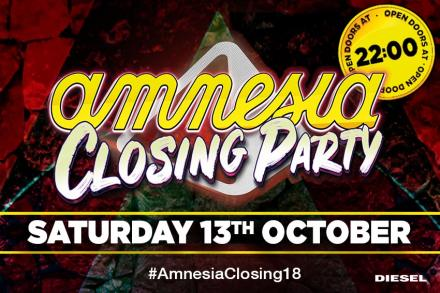 Amnesia announces its full Closing Party line up