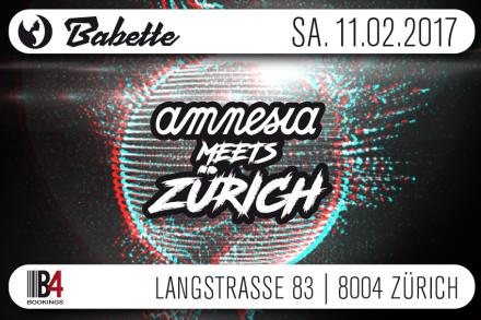 Amnesia Present goes to Zurich!