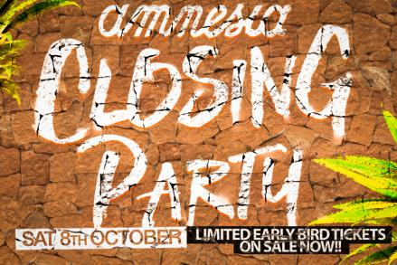 Amnesia Closing 2016, the party of the season in Ibiza.