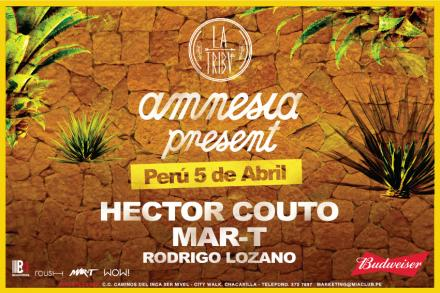 Amnesia present at La Tribu, Lima.