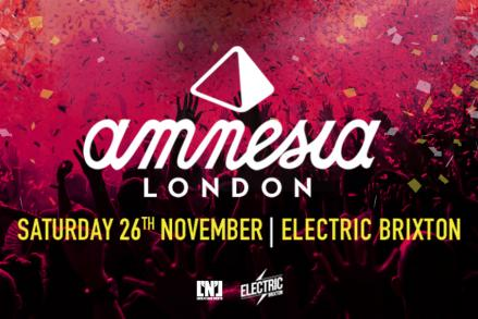 Amnesia goes to London on Saturday 26th!