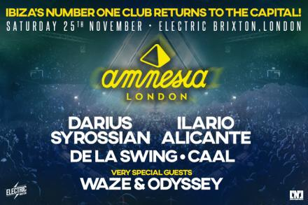 Amnesia Present returns to the British capital!