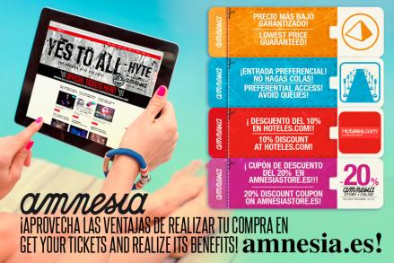 This year, get your tickets at www.amnesia.es has prize!
