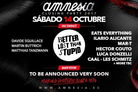 Amnesia announces the firsts names of its closing